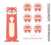 Flat Weasel Character...