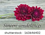Condolence With Red Dahlia...