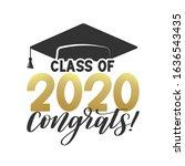 class of 2020 congatulations...   Shutterstock .eps vector #1636543435