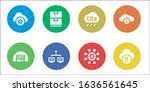 computing icon set. 8 filled... | Shutterstock .eps vector #1636561645