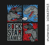 dinosaur illustration  tee... | Shutterstock .eps vector #1636635415