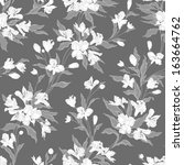 stylish vintage floral seamless ... | Shutterstock .eps vector #163664762