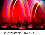 glasses of drinks stand on the... | Shutterstock . vector #1636651732