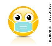 sick frightened emoji with flu... | Shutterstock .eps vector #1636657528