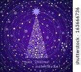 christmas card | Shutterstock .eps vector #163666736