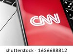 cnn logo on the screen... | Shutterstock . vector #1636688812