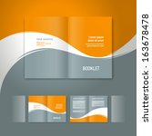 booklet design template white... | Shutterstock .eps vector #163678478
