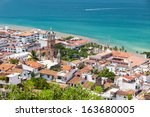 panoramic view of downtown... | Shutterstock . vector #163680005