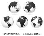 world globe earth map. vector... | Shutterstock .eps vector #1636831858