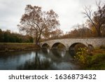 Burnside Bridge in Sharpsburg, Maryland on a grey Day in Fall