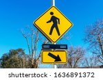 Pedestrian Crossing Sign With...