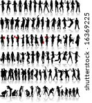 big collection of silhouette | Shutterstock .eps vector #16369225