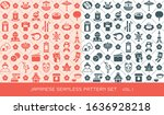 japanese culture vector... | Shutterstock .eps vector #1636928218