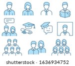 students icons  such as teacher ... | Shutterstock .eps vector #1636934752