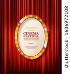cinema festival. theater sign... | Shutterstock . vector #1636972108