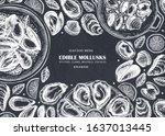 hand drawn edible marine...   Shutterstock .eps vector #1637013445
