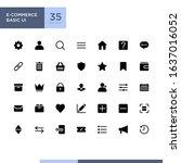 e commerce basic ui icon set...