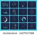 big set of infographics...   Shutterstock .eps vector #1637017288