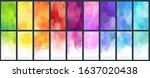 big set watercolor bright... | Shutterstock .eps vector #1637020438
