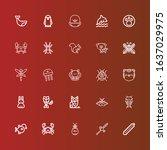 editable 25 wildlife icons for... | Shutterstock .eps vector #1637029975