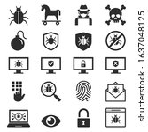 antivirus protection computer... | Shutterstock .eps vector #1637048125