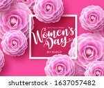 women's day vector concept... | Shutterstock .eps vector #1637057482
