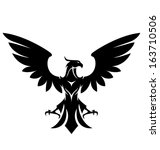 aggressive,badge,bird,black,design,draw,eagle,element,emblem,ensign,falcon,fly,hawk,heraldic,icon