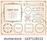 beautiful decoration set ... | Shutterstock .eps vector #1637128222