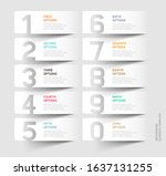number paper cut template.... | Shutterstock .eps vector #1637131255