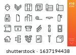 building materials icons set.... | Shutterstock .eps vector #1637194438