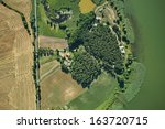 Aerial View Of Summer Field An...