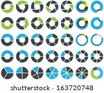 pie charts and circular graph... | Shutterstock .eps vector #163720748
