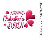 happy valentines day vector...   Shutterstock .eps vector #1637207968