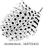 Stylized Guinea Fowl Feather...