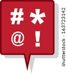 large red speech bubble with... | Shutterstock .eps vector #163723142