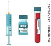 vector medical icon  ampoule... | Shutterstock . vector #1637241052