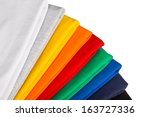 Stack Of Colorful Cotton Fabric