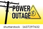 power outage warning. yellow... | Shutterstock .eps vector #1637297632