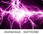 Electrical Sparks On A Dark...