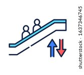 escalator color line icon....