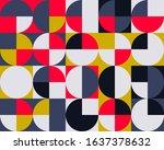 abstract geometric vector... | Shutterstock .eps vector #1637378632