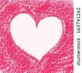 watercolor heart  vector... | Shutterstock .eps vector #163741262