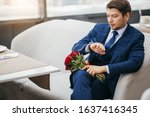 young caucasian gorgeous man in ...   Shutterstock . vector #1637416345