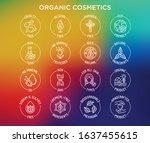 organic cosmetics set of thin... | Shutterstock .eps vector #1637455615