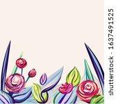 Floral Vector Background....