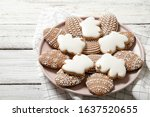 Easter Cookies On A Plate On A...