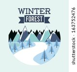 forest design over  blue... | Shutterstock .eps vector #163752476