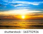 Beautiful Sunset Over The Ocea...