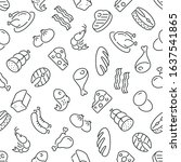 seamless pattern with food.... | Shutterstock .eps vector #1637541865