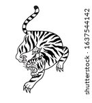 tiger be side form tattoo...   Shutterstock .eps vector #1637544142